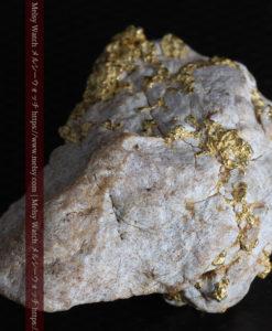 25.75gの石英から染み出るように光る自然金-G0328-12
