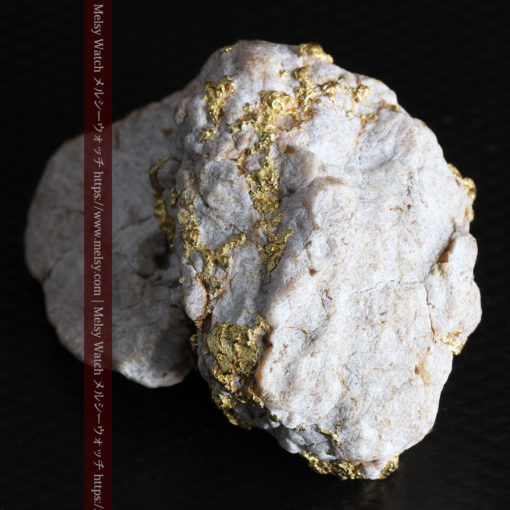 25.75gの石英から染み出るように光る自然金-G0328-14
