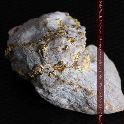25.75gの石英から染み出るように光る自然金-G0328-15