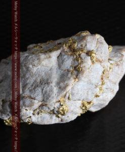 25.75gの石英から染み出るように光る自然金-G0328-16