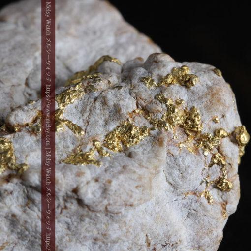 25.75gの石英から染み出るように光る自然金-G0328-3