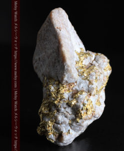 25.75gの石英から染み出るように光る自然金-G0328-7