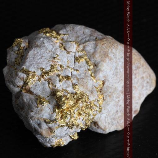 25.75gの石英から染み出るように光る自然金-G0328-9