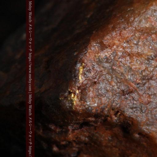 22.0gの黒褐色の石英と自然金-G0330-3