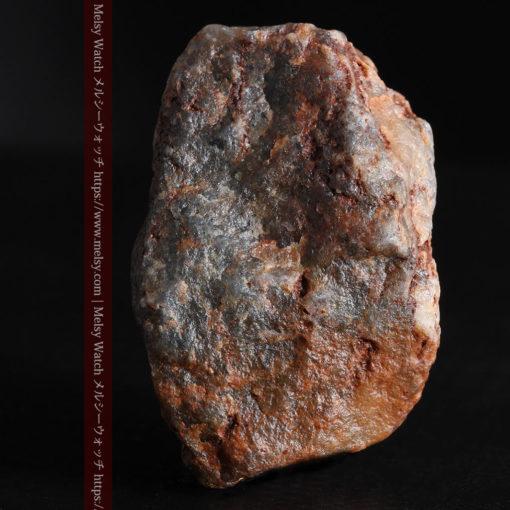 22.0gの黒褐色の石英と自然金-G0330-7