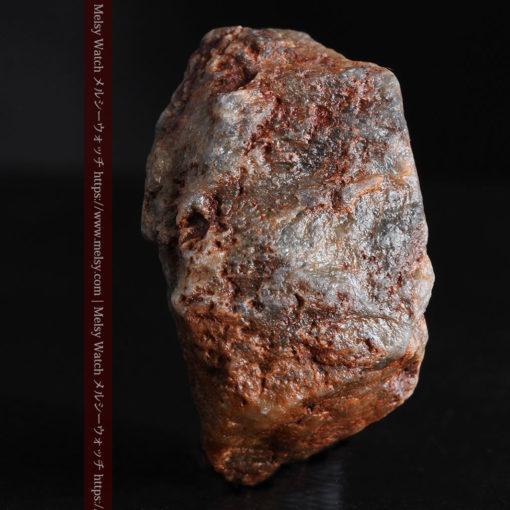 22.0gの黒褐色の石英と自然金-G0330-8
