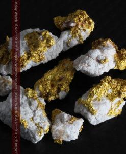 3.25gの小さな石英の付いた自然金8点セット-G0331-1