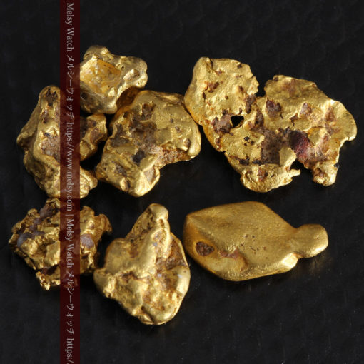 4.92gの小さく個性的な自然金7点セット-G0332-2