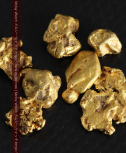 4.92gの小さく個性的な自然金7点セット-G0332-3