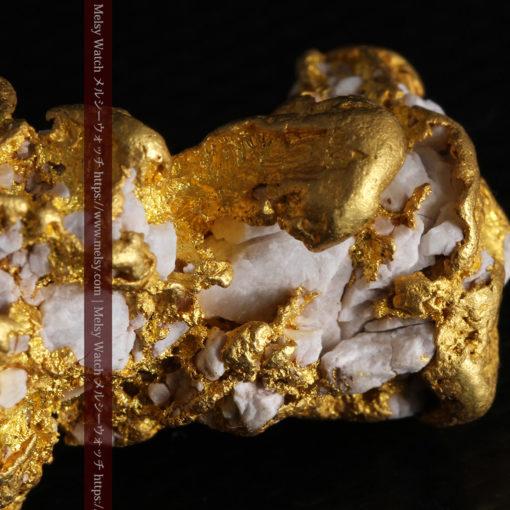 23.86gの凹凸や石英の入り方と形状の美しい大粒自然金-G0333-17