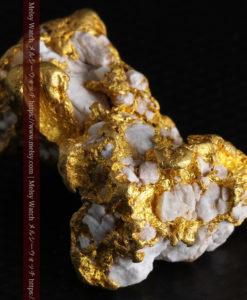 23.86gの凹凸や石英の入り方と形状の美しい大粒自然金-G0333-5