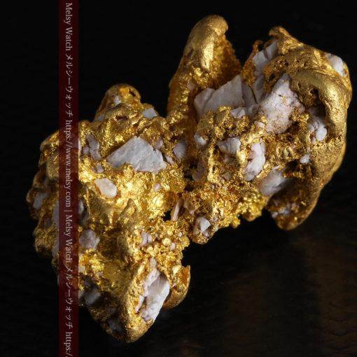 23.86gの凹凸や石英の入り方と形状の美しい大粒自然金-G0333-7