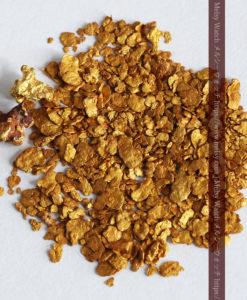 2.57gの小さな砂金・薄片金とやや粒の大きな自然金2点-G0335-2