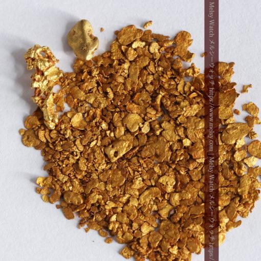 2.59gの小さな砂金・薄片金とやや粒の大きな自然金2点-G0336-3