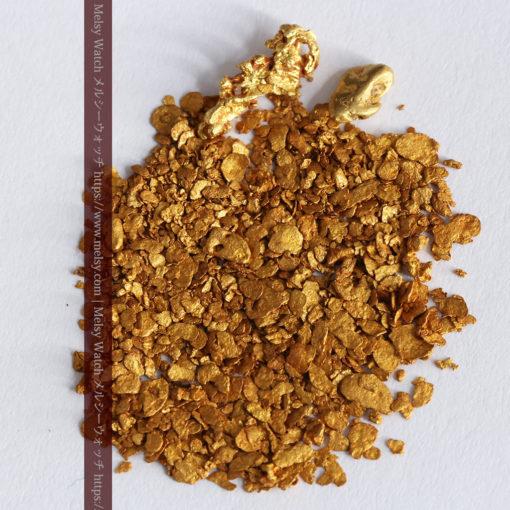 2.59gの小さな砂金・薄片金とやや粒の大きな自然金2点-G0336-4