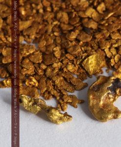 2.68gの小さな砂金・薄片金とやや粒の大きな自然金2点-G0337-2