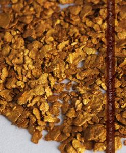 2.68gの小さな砂金・薄片金とやや粒の大きな自然金2点-G0337-7