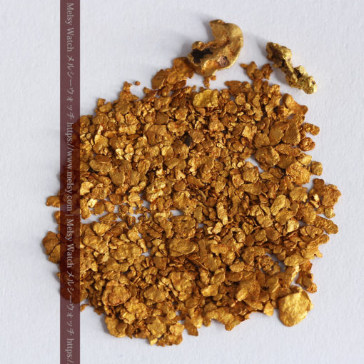 2.68gの小さな砂金・薄片金とやや粒の大きな自然金2点-G0337-8