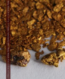 2.93gの小さな砂金・薄片金とやや粒の大きな自然金2点-G0338-1