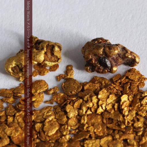 2.93gの小さな砂金・薄片金とやや粒の大きな自然金2点-G0338-2