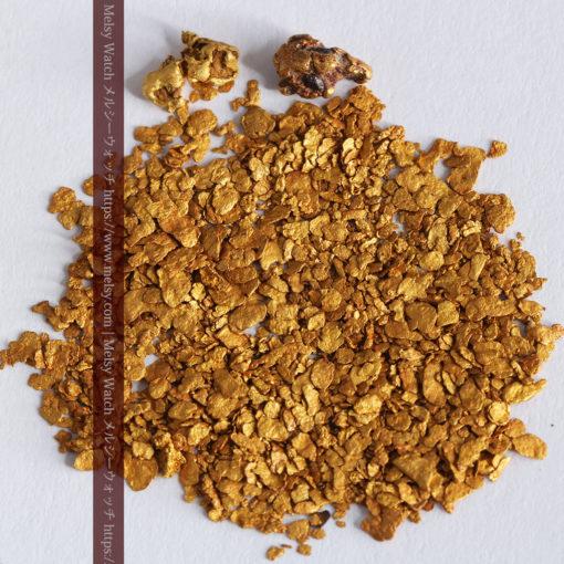 2.93gの小さな砂金・薄片金とやや粒の大きな自然金2点-G0338-3