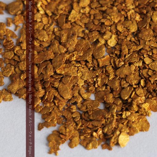 2.93gの小さな砂金・薄片金とやや粒の大きな自然金2点-G0338-5