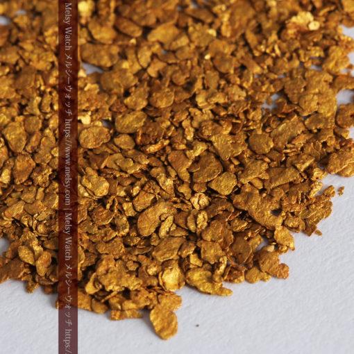 2.93gの小さな砂金・薄片金とやや粒の大きな自然金2点-G0338-8