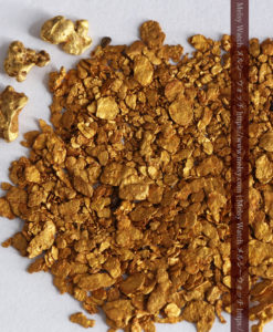2.64gの小さな砂金・薄片金とやや粒の大きな自然金3点-G0339-2