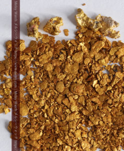 3.11gの小さな砂金・薄片金とやや粒の大きな自然金4点-G0340-1
