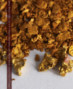 3.11gの小さな砂金・薄片金とやや粒の大きな自然金4点-G0340-2
