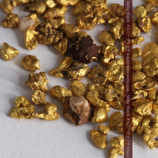 4.41gの小さな粒の自然金セット-G0341-6