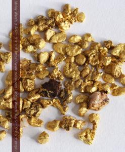4.41gの小さな粒の自然金セット-G0341-7
