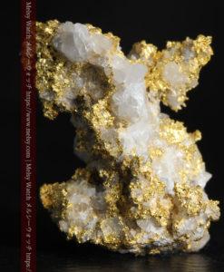 4.22gの非常に綺麗な立体感ある石英と自然金-G0348-1