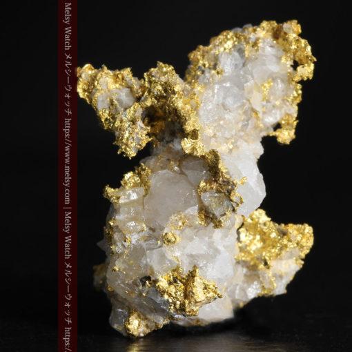4.22gの非常に綺麗な立体感ある石英と自然金-G0348-2
