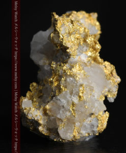 4.22gの非常に綺麗な立体感ある石英と自然金-G0348-3