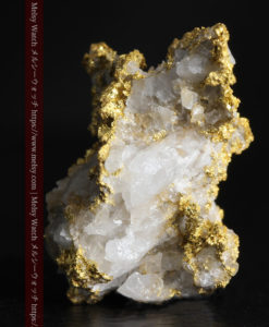 4.22gの非常に綺麗な立体感ある石英と自然金-G0348-4