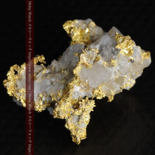 4.22gの非常に綺麗な立体感ある石英と自然金-G0348-5