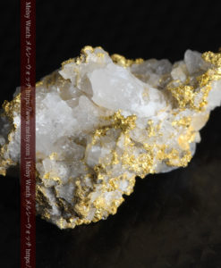 4.22gの非常に綺麗な立体感ある石英と自然金-G0348-7