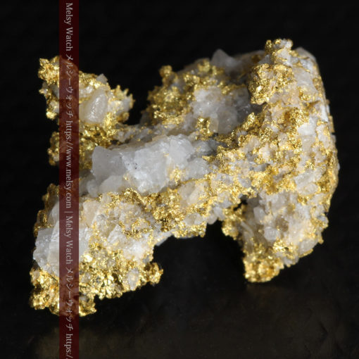 4.22gの非常に綺麗な立体感ある石英と自然金-G0348-9