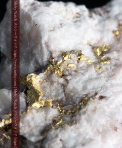 6.55gの厚みのある石英の中を走る自然金-G0355-2
