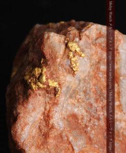 40gの大きな石英の中に20点以上広がる自然金-G0360-3
