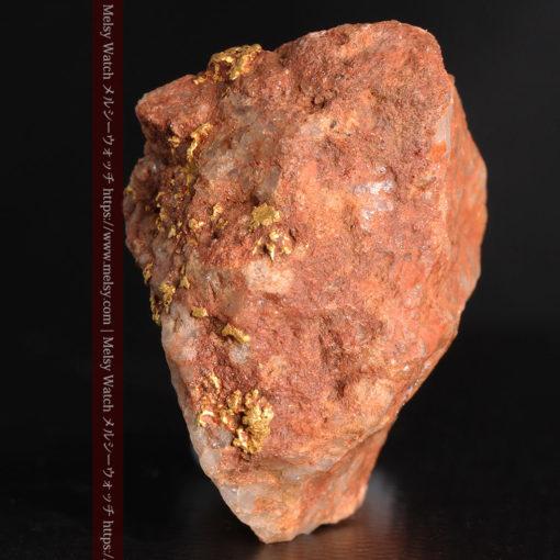 40gの大きな石英の中に20点以上広がる自然金-G0360-5