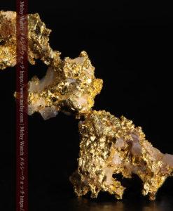 1.89gの3つが連なった形をしている非常に珍しい自然金-G0370-1