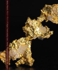 1.89gの3つが連なった形をしている非常に珍しい自然金-G0370-2