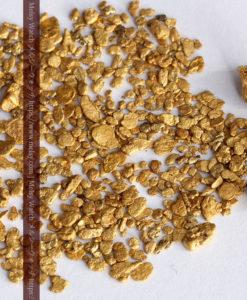 4.47gの小さな薄片金とやや粒の大きな自然金3点-G0373-1