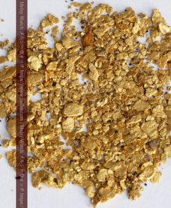 3.37gの小さな砂金・薄片金とやや粒の大きな自然金3点-G0374-1