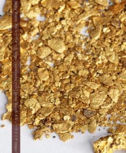 3.37gの小さな砂金・薄片金とやや粒の大きな自然金3点-G0374-2