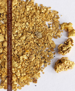 3.08gの小さな砂金・薄片金とやや粒の大きな自然金3点-G0376-2