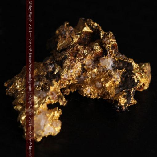 1.71gの小さな石英などを含む個性的な形の自然金-G0384-10
