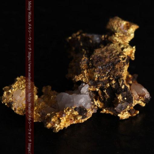 1.71gの小さな石英などを含む個性的な形の自然金-G0384-11